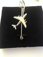 """Galaxy Plane Pewter Emblem Kilt Pin Scarf or Brooch 3"""" 7.5 cm C9 Fighter airline"""