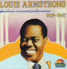 LOUIS ARMSTRONG - 1927 - 1947 SATCHMO'S IMMORTAL PERFORMANCES (1990 JAZZ CD)