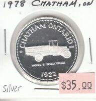 Chatham Ontario Canada - Trade Dollar - 1978 - Silver