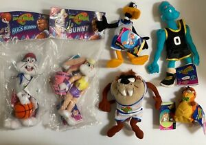 1996 Vtg New SPACE JAM Looney Tunes Plush McDonalds Happy Meal Toys  Set of 6