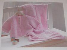 Baby Blanket & Cardigan ~ Aran Knitting Pattern ~ Easy Design ~ Suit Beginners