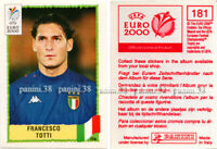 "RARE !! Vignette n°181 FRANCESCO TOTTI ""EURO 2000"" sticker Red Back Panini"
