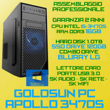 PC ASSEMBLATO INTEL Core i5-3470S RAM 16GB HDD 1TB SSD120 BLURAY COMBO USB3.0