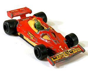 Majorette No 232 Ferrari 312 T2 1/50 France Vintage Toy Car Diecast M464