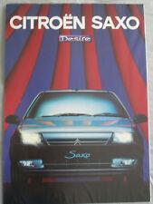 Citroen Saxo Desire brochure May 1997