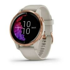 Garmin Venu AMOLED GPS Smartchwatch Light Sand w Rose Gold Hardware 010-02173-21