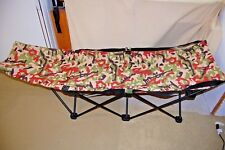 Neus Port Loungers Camping With Carrying Bag Cot Camo Cot - NICE - FREE SHIPPING
