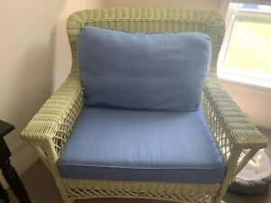 Maine Cottage Wicker Chair And A 1/2