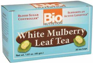 White Mulberry Leaf Tea by BioNUTRITION, 30 tea bag 1 pack