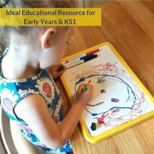 Childrens/Kids A4 Magnetic, Dry wipe, Whiteboard Set - Ideal for Home Schooling