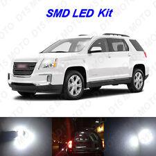 13 x White LED interior Bulbs + License Plate Lights For 2010-2016 GMC Terrain