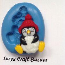 Silicona Molde Navidad Navidad Penguin Bola De Nieve Decoración De Pasteles Cupcake Topper
