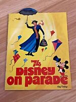 Vintage 1973 Walt Disney on Parade Program Book Mary Poppins