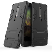For Nokia 6.1 2018 - SLIM THIN TOUGH SHOCK PROOF BUILDER PHONE CASE COVER STAND