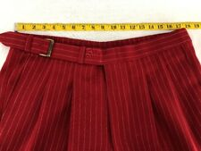Men's Barry Golf Co Red Striped Knickers - Size 36 - Made in the USA