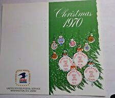 1970 US Postal Service Christmas FDC Card Sc#1414-1418