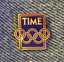 Time Olympic Media Pin Badge~undated~small tie tac size~Calgary 1988 in Package