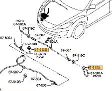 Genuine Mazda 6 Wagon Windshield Washer Nozzle 2009 -> L206-67-510 - (one only)