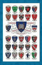 C1930s PC COATS OF ARMS OF THE OXFORD COLLEGES