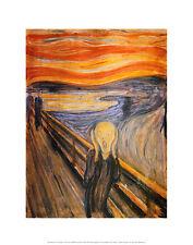 Edvard Munch the Scream póster son impresiones artísticas imagen cartel 36x28cm