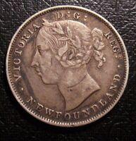 Old Canadian COINS 1900 NEWFOUNDLAND CANADA TWENTY CENTS BEAUTY