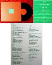 LP Ein Orchester - fünf Sounds - Formationen des NDR Tanzorchesters 1985