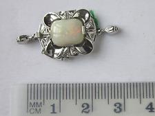 Schöne Collierschließe, Weißgold 585, echter Opal