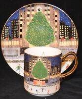 Anthropologie Christmas Time In The City Dessert Plate or Mug New York NEW