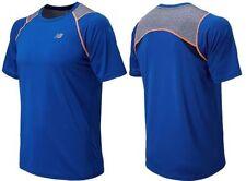 New Mens New Balance Performance Running Shirt Size M Optic Blue MSRP $40