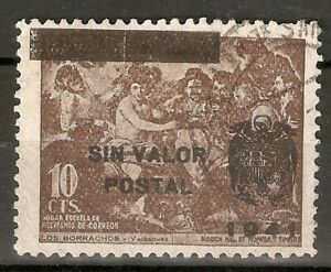 BENEFICENCIA 1941 NE 36º HABILITADO SIN VALOR POSTAL USADO
