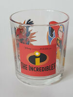 "Rare INCREDIBLES DISNEY PIXAR 3.5"" 2000s Tumbler Glass EXCELLENT CONDITION"