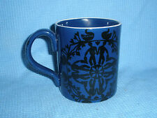 HC Andersen Denmark MUG Nils Thorsson Black on Blue People Swans Vtg B2