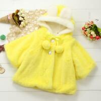 Baby Infant Girl Warm Outerwear Hooded Coat Cloak Jacket Top Thick Soft Clothes