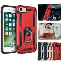 Hybrid Armor Case Magnetic Finger Ring Kickstand Hard Cover For iPhone SE (2020)