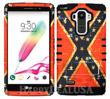 Hybrid Silicone Cover Case for LG G Stylo LS770 BK/Distressed Flag