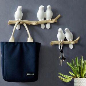 Bird Hanger Wall Decoration Home Accessories Living Room Hanger Resin key Holder