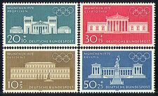 Germany 1970 Olympics/Buildings/Architecture/Palace/Statue 4v set (n29610)