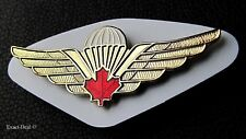 Canadian Airborne Basic Parachutist Red Maple Leaf Para Jump Wing Badge
