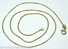 """18k Gold Plated 925 Sterling Silver Diamond Cut Snake Chain Necklace 20"""""""