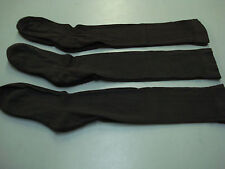 NWOT Women's Over The Knee Cotton Blend Socks One Size  3 Pair Brown #185A