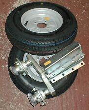 750kg  Heavy Duty Trailer Suspension Units Complete + 2 X 145 x 10 4ply Wheels
