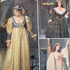 Misses Renaissance Costume Pattern Simplicity 0687 Bodice 16 18 20 Uncut Faire