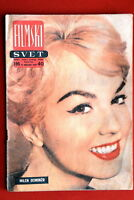 MYLENE DEMONGEOT ON RARE COVER 1958 VINTAGE EXYUGO MAGAZINE