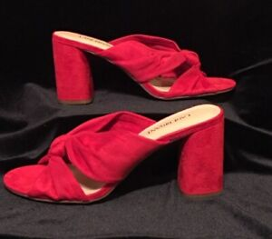 Lane Bryant women's red mule knot sandals - size 11W - NEW w/box - retail $59.95