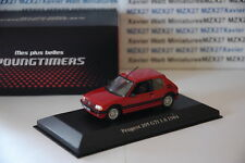 VOITURE TEST ATLAS PEUGEOT 205 GTI 1.6L 1984  ROUGE COLLECTION YOUNGTIMERS 1/43