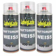 Haftgrund Weiss 3x 400ml Spray Grundierung für Autolack Ludwiglacke