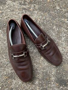 Mens Salvatore Ferragamo leather Loafers size 10 in brown,needs repair