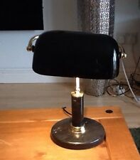 Bankers Desk Lamp Marble & Brass