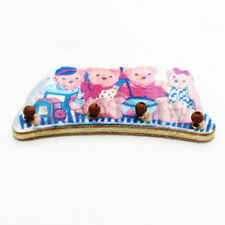 Mini Nursery Furniture Wooden Teddy Bears Coat Hooks Dollhouse Nursery Miniature