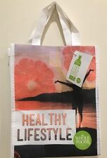 Whole Foods Tote Shopping Bag  Genuine NEW 100% Black Made Of Recycled Bottles
